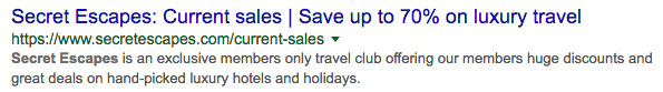 Meta title and meta description for luxury holiday